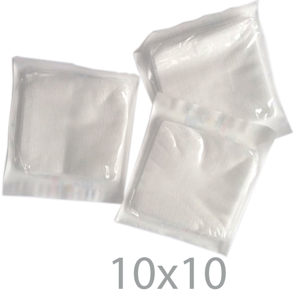 Compressa garza cotone sterile 10 x 10 cm busta da 25 strati for Piani di coperta 20x20