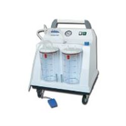 Aspiratore chirurgico tobi hospital - a pedale - 2x4lt - 90lt/min