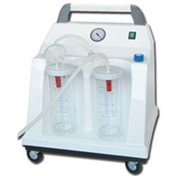 Aspiratore chirurgico tobi hospital su rotelle - a pedale - 230v - 2x2lt - 90lt/min