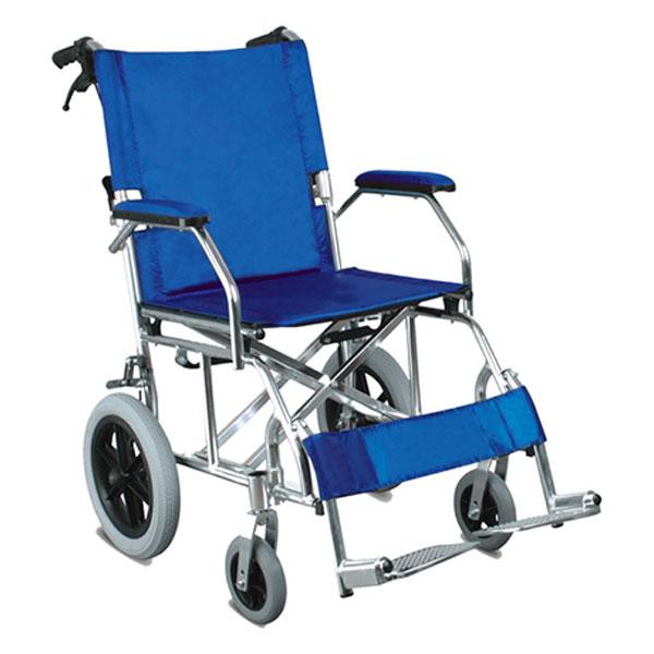 Sedia a rotelle carrozzina in alluminio queen blu for Sedia a rotelle queralto