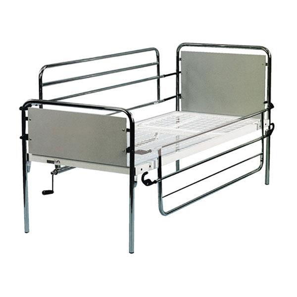 Kit sponde ribaltabili per letto degenza in acciaio cromato 158x46cm coppia - Letto ortopedico con sponde ...