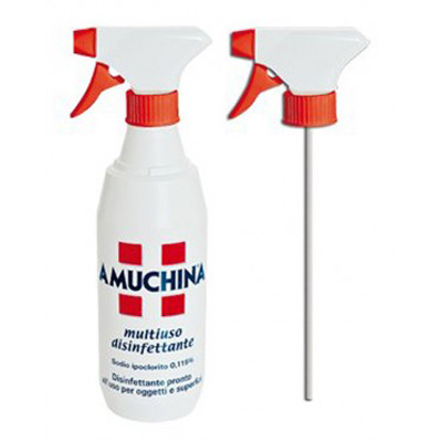 AMUCHINA DISINFETTANTE SPRAY PRONTO USO A BASE  DI IPOCLORITO DI SODIO 0,115% 500 ml - Multiuso