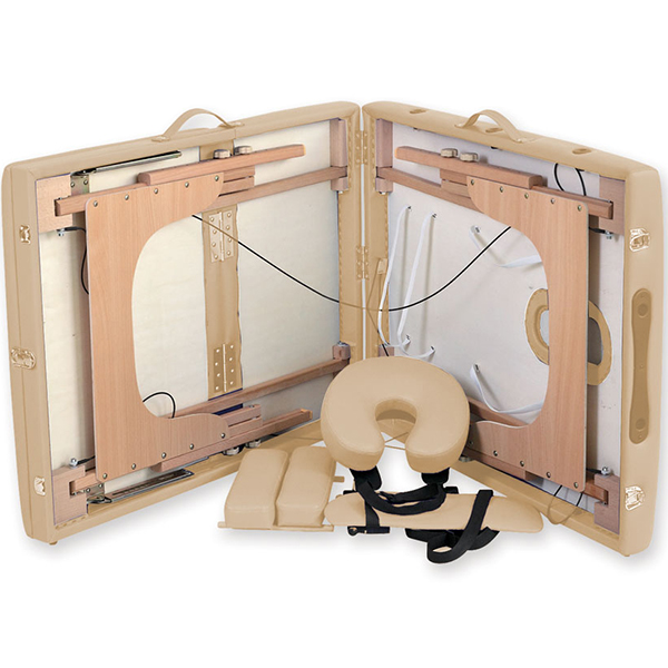 Lettino pieghevole portatile regolabile per massaggio in for Lettino estetista portatile