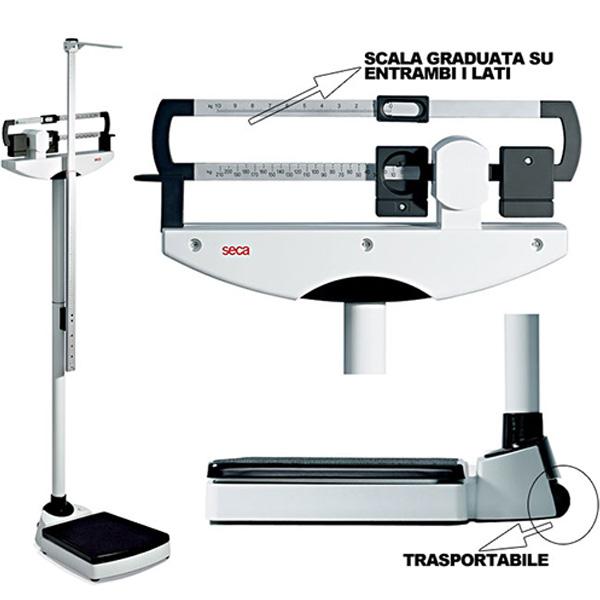 BILANCIA PESAPERSONE MECCANICA SECA 711 CON ALTIMETRO - portata 220kg - range misurazione 60/200cm