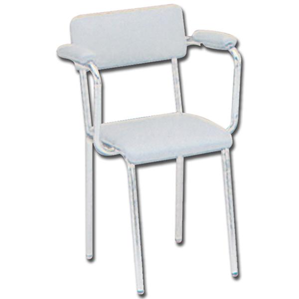 Poltroncina sedia ambulatorio struttura in acciaio - Sedia imbottita con braccioli ...