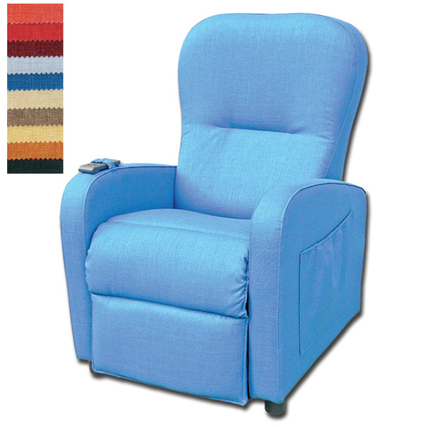 Blu Relax Poltrone.Poltrona Relax Betty A 2 Motori Movimento Indipendente Schienale E Poggiapiedi Blu